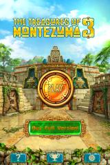 The Treasures of Montezuma 3 iPhone Title and main menu