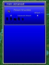 Final Fantasy: All The Bravest iPad You found poison knuckles.