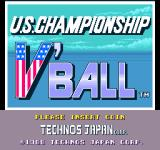 Super Spike V'Ball Arcade Title screen (American version)