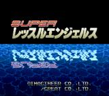 Super Wrestle Angels SNES Title screen.