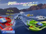 Powerboat Racing Windows The game's title screen and main menu
