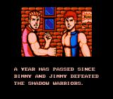 "Double Dragon III: The Sacred Stones NES The infamous opening. At least it wasn't ""Billy and Jilly""."