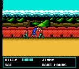 Double Dragon III: The Sacred Stones NES Billy faces s couple of Chinese thugs at the Great Wall of China.