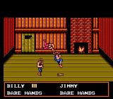 Double Dragon III: The Sacred Stones NES Inside a cabin, Billy grabs Daby with a somersault.