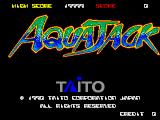 Aqua Jack Arcade Title screen