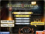 Treasure Seekers II: The Enchanted Canvases iPad Title and main menu
