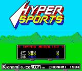 Hyper Sports Arcade Title screen (American version)