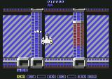A.L.C.O.N. Commodore 64 Enemies goes on rails in tunnels and can be shot in the openings. (NTSC)