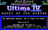 Ultima IV: Quest of the Avatar Sharp X1 Title screen