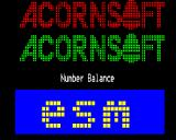 Number Balance BBC Micro Title screen
