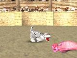 Monster Rancher PlayStation The Victor of a Battle Does a Pose