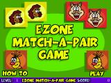 Ezone Match-A-Pair Game Browser The game's title screen