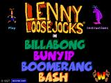 Lenny Loosejocks in Billabong Bunyip Boomerang Bash Browser The game's title screen