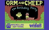 Orm and Cheep: The Birthday Party Commodore 64 Title Screen