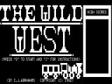 The Wild West TRS-80 Title screen