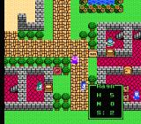 Dragon Warrior IV NES Visiting a village. Your stats are shown in green - you are wounded