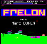 Frelon Oric Title screen
