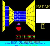 3D Munch Oric Title screen