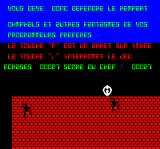 Caspak Oric Game over - the game instantly scrolls to the intro screen