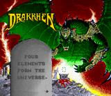 Drakkhen SNES Title screen together with the story