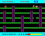 Monsters BBC Micro An escaped green monster turns into a white one