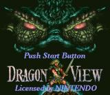 Dragon View SNES Title screen