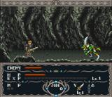 Dragon View SNES In a dungeon, fighting some green guys