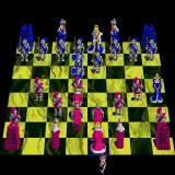 Battle Chess Sharp X68000 My king is in check by the blue queen