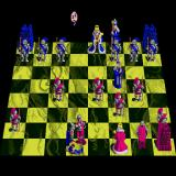 Battle Chess Sharp X68000 Red knight takes out its blue counterpart Monty Python style