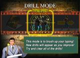 The Typing of the Dead Dreamcast Drill Mode Menu
