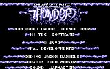 Blazing Thunder Commodore 64 Title screen
