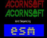 Word Sequencing BBC Micro Title screen