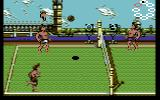 Beach Volley Commodore 64 A volley in progress