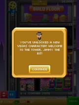 Tiny Tower Vegas iPad I've unlocked another new character, Jimmy the Bit.