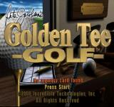 Peter Jacobsen's Golden Tee Golf PlayStation Title screen.