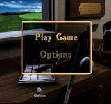 Peter Jacobsen's Golden Tee Golf PlayStation Main menu.