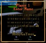 Peter Jacobsen's Golden Tee Golf PlayStation Enter Name.