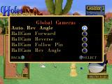 "Peter Jacobsen's Golden Tee Golf PlayStation Paused. Let's check the ""Global Cameras""."