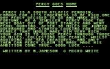 Percy Commodore 64 Title Screen