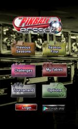 The Pinball Arcade Android Main menu