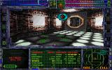 System Shock DOS Fancy energy weapon fire effects, lit markings on the floor, weapon list... life seems to be alright after all