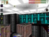 System Shock DOS An example of interactivity: pushing this crate into the abyss by repeatedly hitting it with a pipe