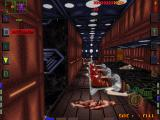 System Shock DOS Level 6 is my favorite in the game. Lots of varied scenes - including this scary display of corpses, organic and cybernetic alike...