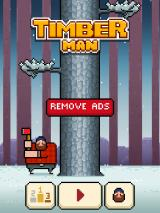 Timberman iPad Title and main menu