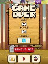 Timberman iPad I got a score of 64 before I died