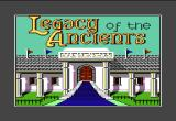 Legacy of the Ancients Commodore 64 The game begins with title and music.