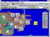 SimCity Windows 3.x Riverside Boston (zoomed)
