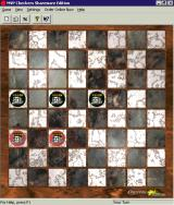 MVP Checkers Windows Here the game has progressed to the point where only 'kinged' pieces remain