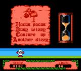 The Fantastic Adventures of Dizzy NES Mini game, when solving this puzzle, you are awarded with extra life