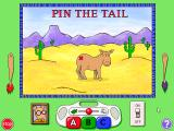 "Arthur's Birthday Windows 3.x ""Pin the Tail,"" one of the minigames, where you play pin the tail on the donkey."